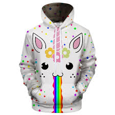 Magical Unicorn Rainbow Vomit 3D T Shirt Zipper Hoodie Tank Top Shop For Sale