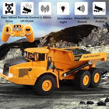 100 Kids Dump Truck 24Ghz RC Remote Control Electric Engineering Toy Model Boy Gift