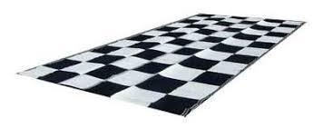 amazon com rv patio mat awning mat 9x18 black white checkered