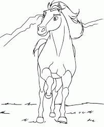 Spirit The Horse Coloring Pages To Print