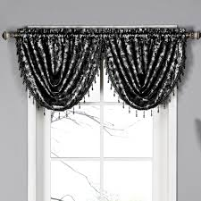 Waterfall Valance Curtain Set by Excellent Black Valances For Window 97 Black And White Valances For Windows Window Elements Dorothy Waterfall Jpg