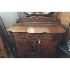 Tiger Oak Dresser Chest by Victorian Tiger Oak Wood Dresser U0026 Swivel Mirror Chairish