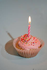Pink Cupcake With Candle HA8V7519