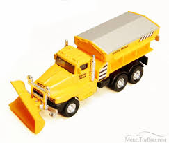 Snow Plow Truck, Yellow - Showcasts 9915D - 5.75 Inch Scale ...