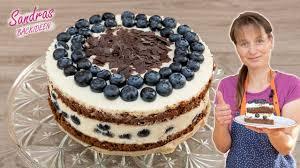 blaubeer schoko torte mit mascarpone und lockerem biskuit rezept kühlschranktorte sommertorte