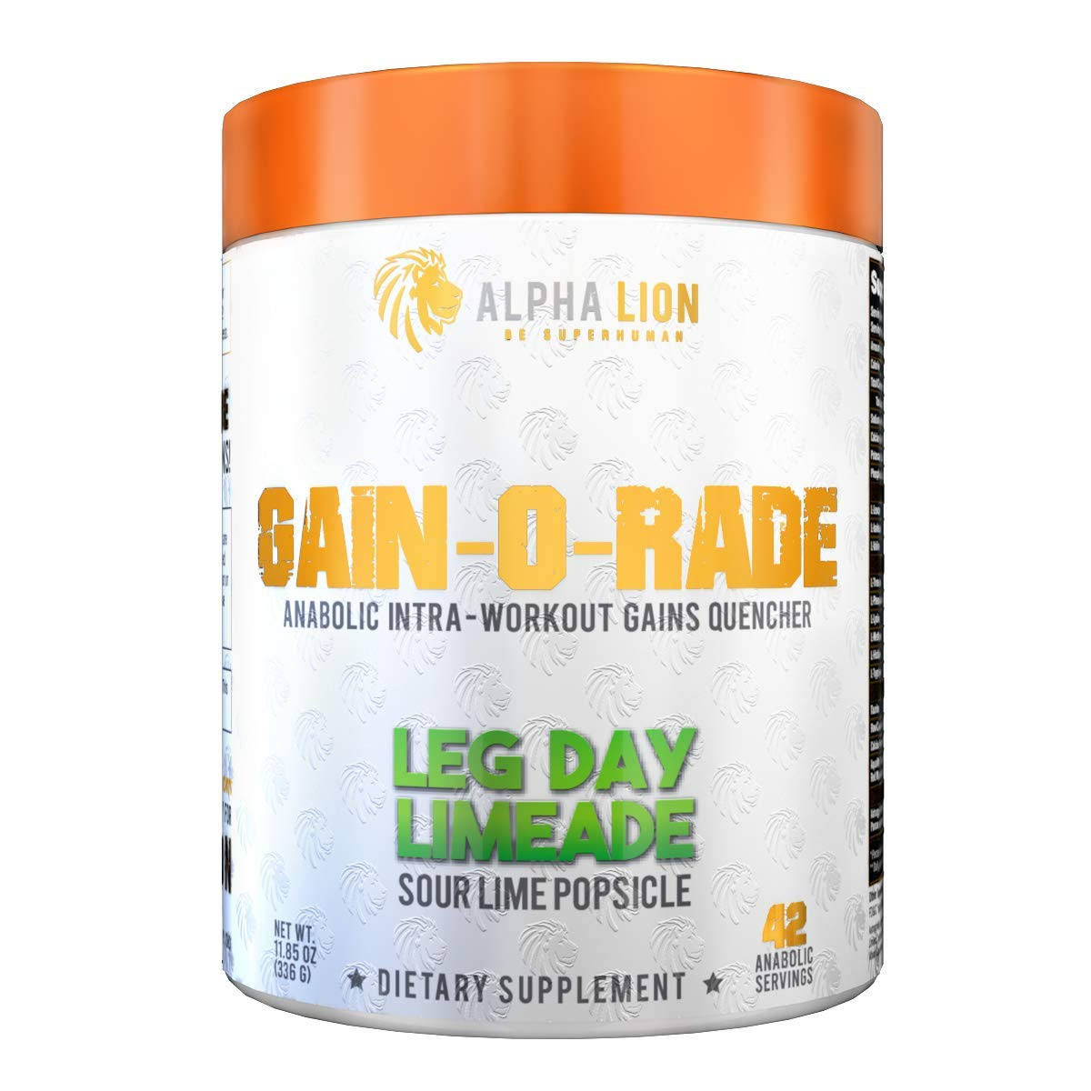 Alpha Lion Gain-O-Rade 21 Servings Leg Day Limeade
