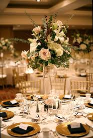 Elegant Tall Yellow Floral Centerpieces For Wedding Reception