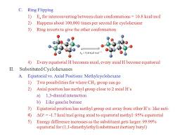 Chair Conformation Of Cyclohexane Ppt by Chapter 4 Lect 2 Finish Cycloalkanes I Hydrogens On Cyclohexane A