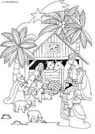 Nativity Scene Coloring Pages Printables