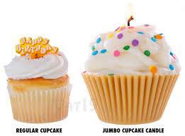 Jumbo Cupcake Candle Versus A Regular