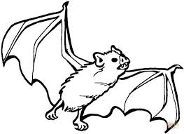 Coloring Pages Of Halloween Bats Fun For Christmas