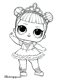 Lol Dolls Coloring Pages Center Stage Doll Page Share With Friends Surprise Bonbon