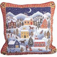 Christmas Needlepoint Kits Winter Village