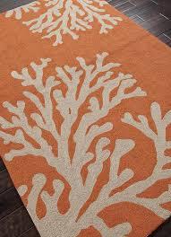 Gray And Orange Area Rug