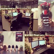 Cubicle Decoration Ideas In Office by My Cubicle Decorated For Christmas Gonna Have To Do Something