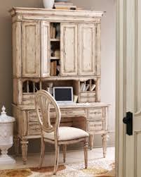 Neiman Marcus Antique White Desk & Hutch  TheHome
