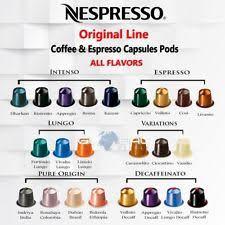 Nespresso ORIGINAL LINE Capsules Pods Coffee Espresso Decaff 10 Pack ALL FLAVORS