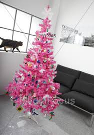 stock photo artificial pink christmas tree image fw2746