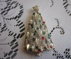 1995 Swarovski Crystal Christmas Tree Brooch Retired Rare