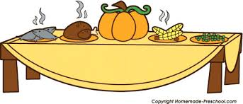 Preschool Table Clipart Clip Art Of Thanksgiving Meal