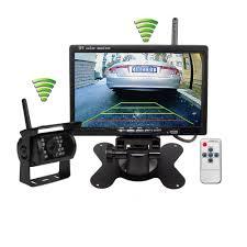 Wireless IR Night Vision Rear View Backup Camera & 7