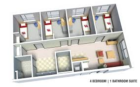 Bathroom Floor Plans With Washer And Dryer by Cougar Place University Of Houston