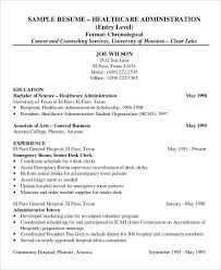 Healthcare Administration Resume Example