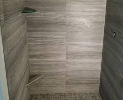 bathroom shower porcelain eramosa 12x24 2x2 carbon gray white