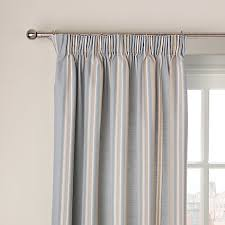buy john lewis alban stripe blackout lined pencil pleat curtains
