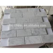 carrara marble non beveled brick subway tile backsplash buy