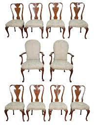 Antique John Widdicomb Dresser by John Widdicomb Set Of 10 Walnut Queen Anne Dining Chairs Chairish