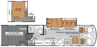 Jayco Class C Motorhome Floor Plans by Class A Toy Haulers Toy Hauler Rv Motorhomes With Garage Toy