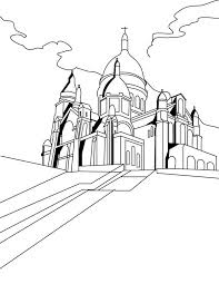 Middle Ages The Basilica Of Sacred Heart Paris In Coloring