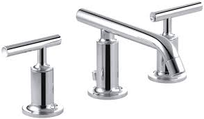 Kohler Purist Kitchen Faucet by Kohler Purist Widespread Bathroom Sink Faucet With Low Lever