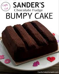 Chocolate Fudge Bumpy Cake is deliciously soft buttermilk chocolate cake topped with cream filling and