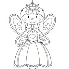 Little Angel Fairy To Color