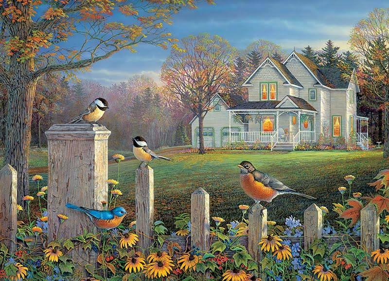 Cobble Hill: Evening Birds 1000 Piece Jigsaw Puzzle