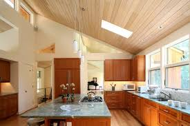 ceiling light kitchen modern with wood floor clerestory