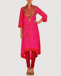 elegant and simple designs of frocks with churidar shalwar for