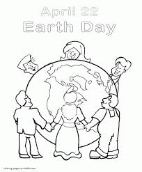 Earth Day Coloring Pages Recycling Sheets Of The People Around Globe Preschool Color Sheet Educations
