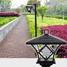 Solar Powered Garden LED Lamp Outdoor Pathway Waterproof Lawn