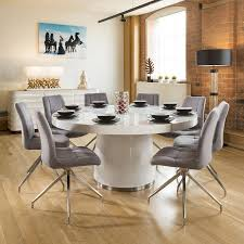 Large Round White Gloss Dining Table Lazy Susan + 8 Grey Chairs 8105 10 Upholstered Ding Chairs Cabriole Legs Lloyd Flanders Round Back Wicker Chair Arenzville Mahogany Wood Pedestal Table With 6 Set Pre Order Aria Concrete Granite Ding Table 150cm 4 Jsen Leather Chair Package Small In White Velvet Pink Rhode Island Kaylee Bedford X Rustic 72 With 8 Miles Round Ding Suite Alice Chairs A334b 1pc And A304 4pcs Patrick Milner Modern Dinette 5 Pieces Wooden Support Fniture New Tyra Glass On Gloss Latte Nova Seater