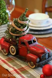 Old Car With A Small Christmas Tree For Decor