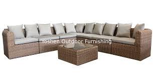 Outdoor Sectional Sofa Set by Outdoor Rattan Furniture Modular Sectional Sofa Set Ys5739