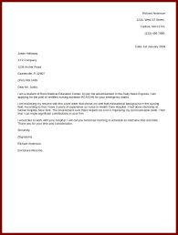 Simple Resume Cover Letter Simp Example Of Examples Best