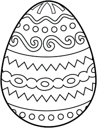 Egg Coloring Page Large Easter Color Sheet Giant Colouring Pages Free Printable