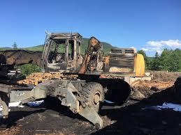 Fire Destroys Log Loader At Eustis Lumber Company - Portland Press ...