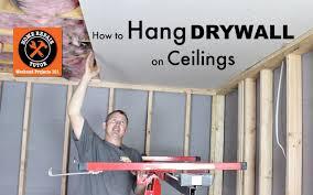 hanging drywall on ceiling tips how to hang drywall ceilings by home repair tutor