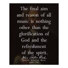 JS Bach Quote On Music Poster