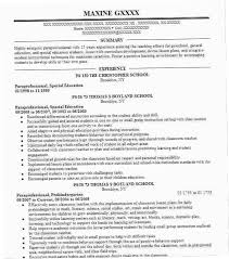 Paraprofessional Resume Sample R8PF Similar Resumes Special Education